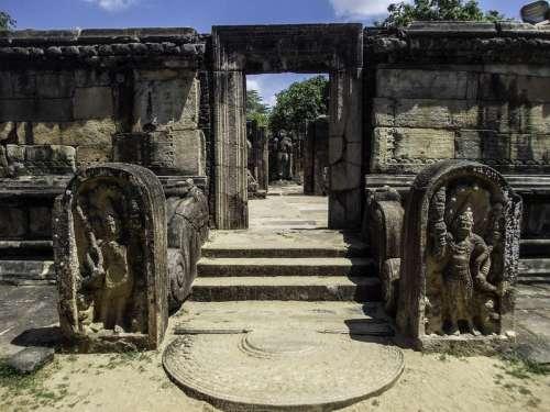 Ancient Stone Temple in Sri Lanka free photo