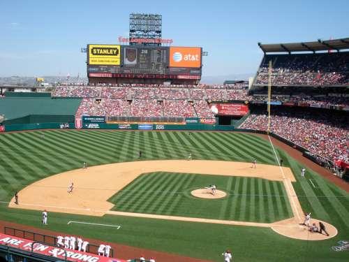 Angel's Stadium Baseball Diamond in Bakersfield, California free photo