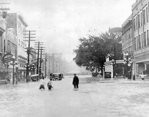 April 16, 1921 flood on Town Creek in Jackson, Mississippi free photo