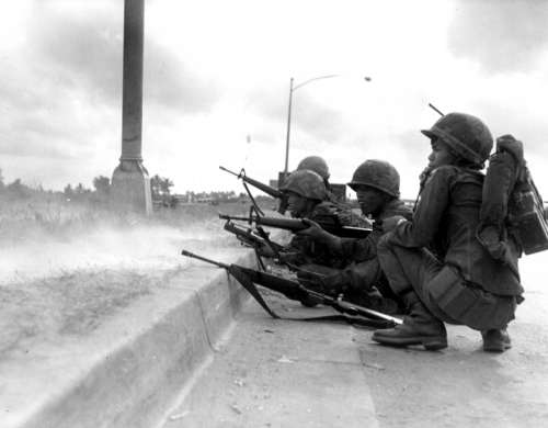 ARVN Rangers defending Saigon in 1968 Battle of Saigon during the Vietnam War free photo