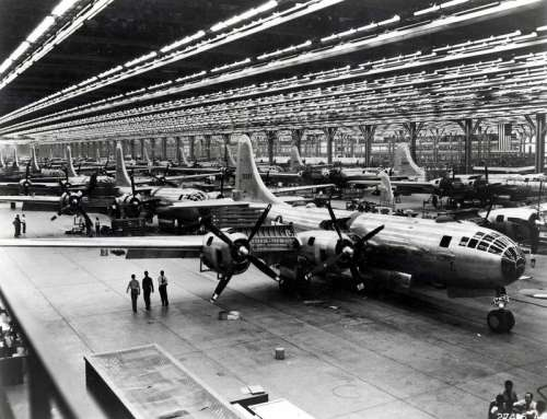 B-29 Superfortress strategic bombers being built in World War II free photo