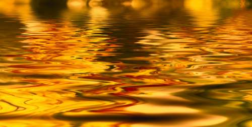 Background of Golden Water free photo