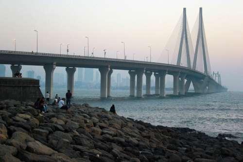 Bandra-Worli Sea Link Suspension Bridge in Mumbai, India free photo