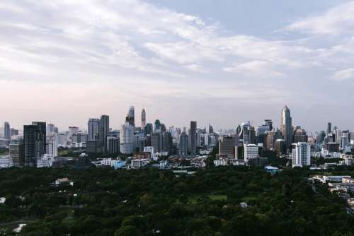 Bangkok City Skyline in Thailand free photo