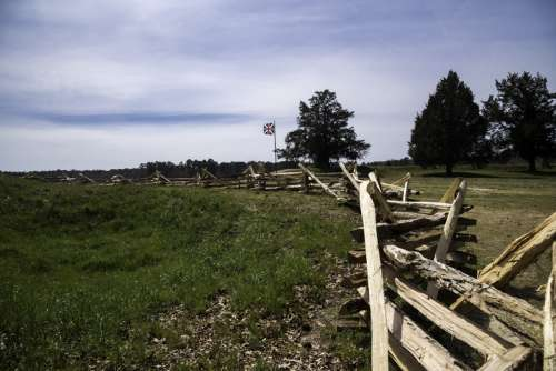 Barricades in front of the British Position at Yorktown, Virginia free photo