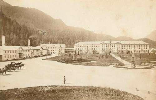 Baths in St. Moritz,around 1881 in Switzerland free photo