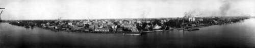 Baton Rouge Panorama 1912 in Louisiana free photo