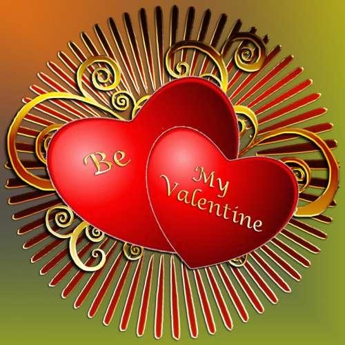 Be my Valentine Hearts  free photo