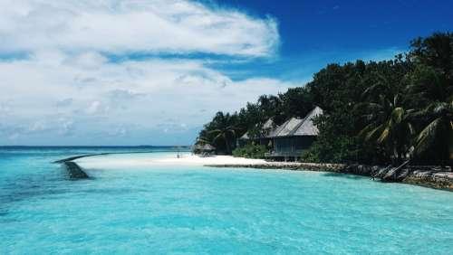 Beachfront House in Gangehi, Maldives free photo