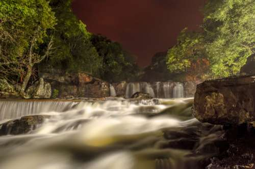 Beautiful Landscape with rapids and waterfalls in Argentina free photo