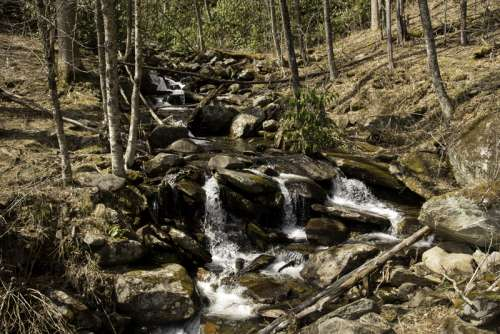 Beautiful Waterfalls in Great Smoky Mountains National Park, Tennessee free photo