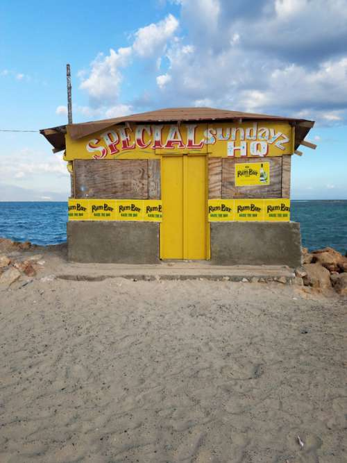 Beer Shack on the Beach in Kingston, Jamaica free photo