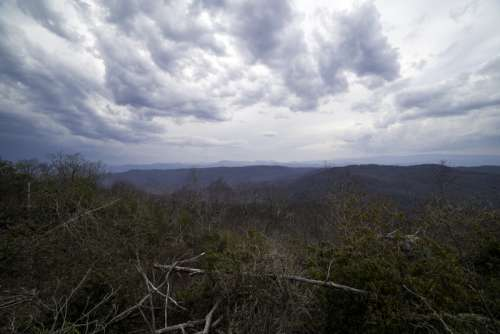 Before the storm landscape view at Sassafras Mountain, South Carolina free photo