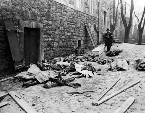 Belgian civilians killed by German units during the offensive during the Battle of the Bulge free photo