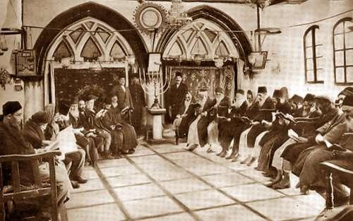 Ben-Zakai Synagogue in 1893 in Jersusalem, Israel free photo