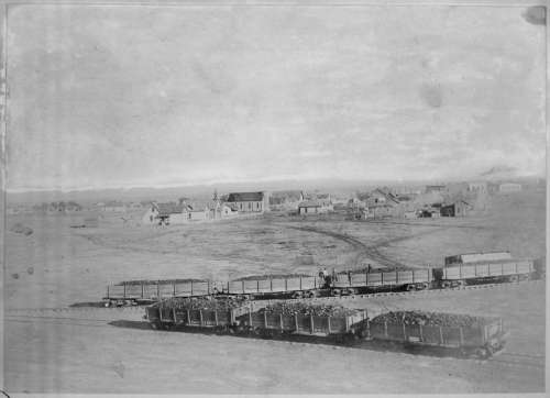 Bird's Eye View of Winslow, Arizona in 1890  free photo