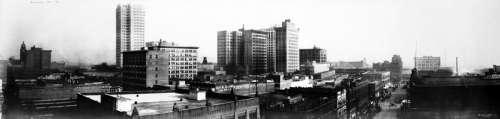Black and White Skyline of Birmingham, Alabama free photo