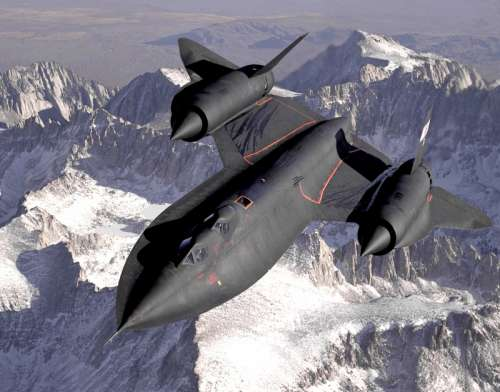 Black SR-71 Blackbird supersonic Jet free photo