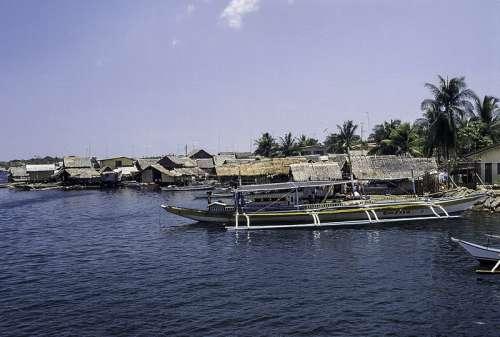 Boats at the Dock at Palawan, Philippines free photo