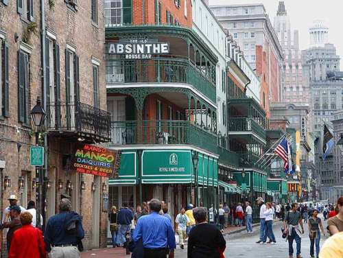 Bourbon Street, New Orleans, in 2003 in Louisiana free photo