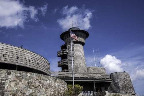 Brasstown Bald Tower in Chattahooche-Oconee National Forest, Georgia free photo