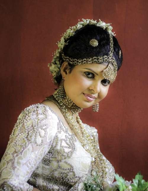 Bride in Sri Lanka free photo