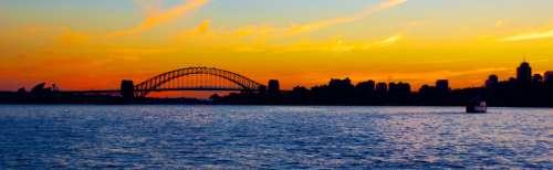 Bridge across the Harbor with skyline in Sydney, New South Wales, Australia free photo