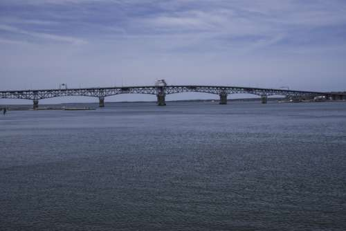 Bridge across the York River in Yorktown, Virginia free photo