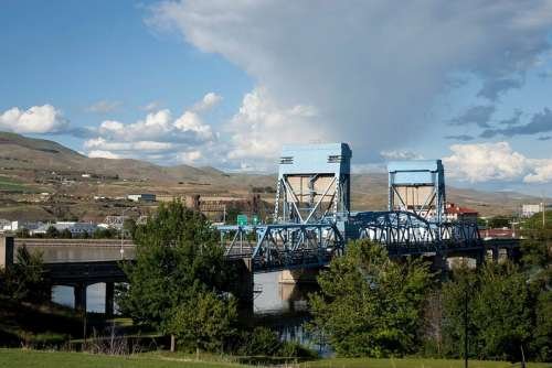 Bridge and Town landscape in Idaho free photo