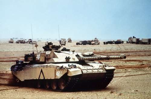 British Army Challenger 1 main battle tank During Desert Storm free photo