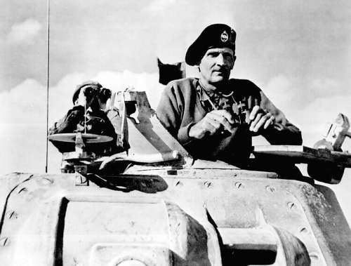 British General Bernard Montgomery Watching the Second Battle of El Alamein free photo