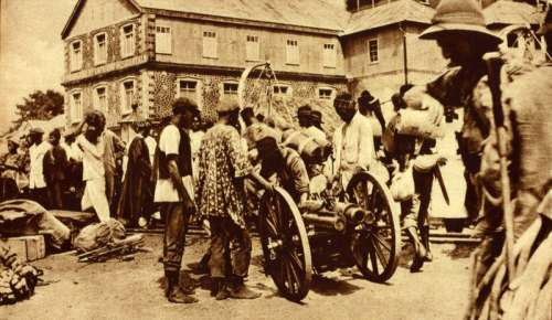 British West African Campaign troops in Freetown, Sierra Leone free photo