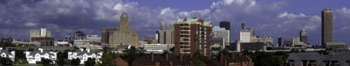 Buffalo skyline in New York free photo