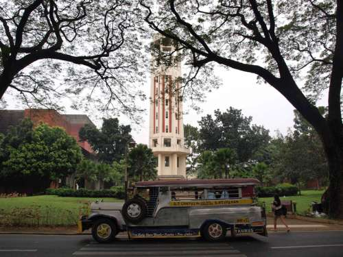 Bus and transportation in Manila, Philippines free photo