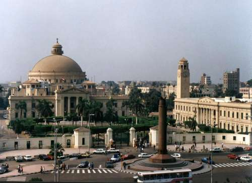 Cairo University buildings in Egypt free photo