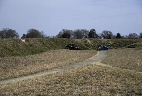 Cannons in the Trenches in Yorktown, Virginia free photo