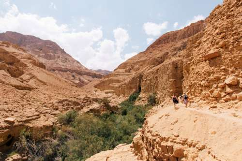 Canyon Landscape in Ein Gedi Reserve in Israel free photo