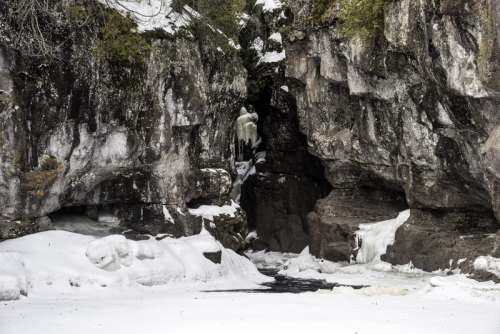 Canyon opening for the Temperance River in Minnesota free photo