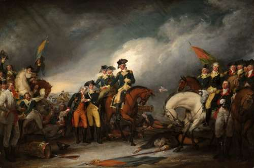 Capture of the Hessians at Trenton, New Jersey free photo