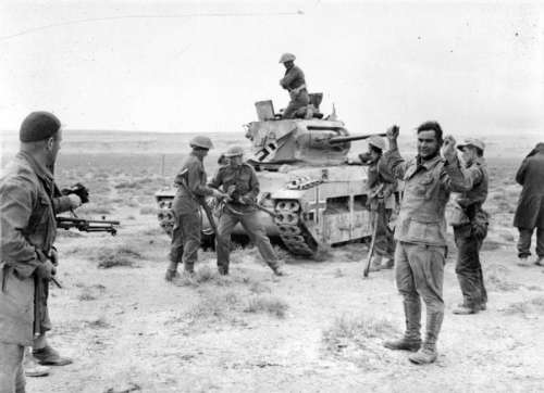 Captured German Afrika Korps soldiers, December 1941 during World War II free photo
