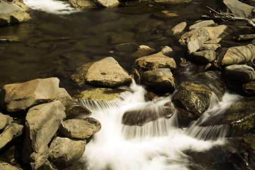 Cascading Water Closeup in Great Smoky Mountains National Park, Tennessee free photo