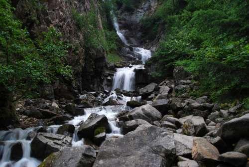 Cascading Waterfalls in the Yukon Territory, Canada free photo