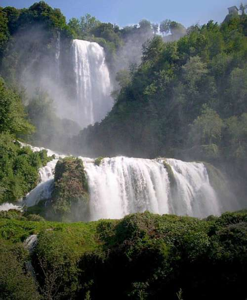 Cascata delle Marmore in Terni, Italy free photo