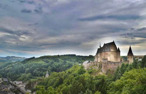 Castle Near Luxembourg free photo