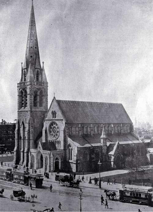Cathedral at Christchurch, New Zealand  free photo