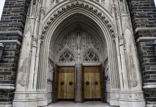 Cathedral Door Archway at Duke Chapel, Durham, North Carolina free photo