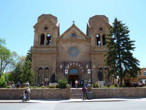 Cathedral Of Basilica in Santa Fe, New Mexico free photo