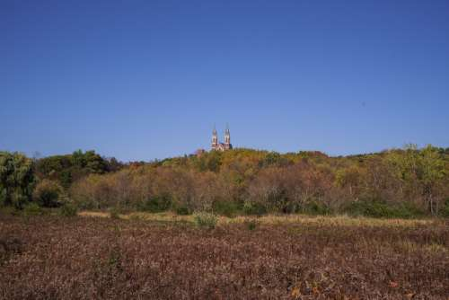 Cathedral on top of the hill at Holy Hill, Wisconsin free photo