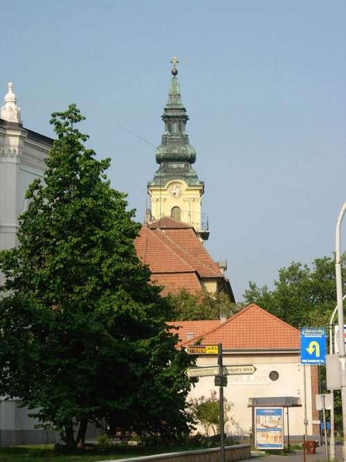 Catholic Church building in Szolnok, Hungary free photo