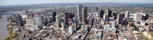 Central Business District from the air, 2007 in New Orleans, Louisiana free photo
